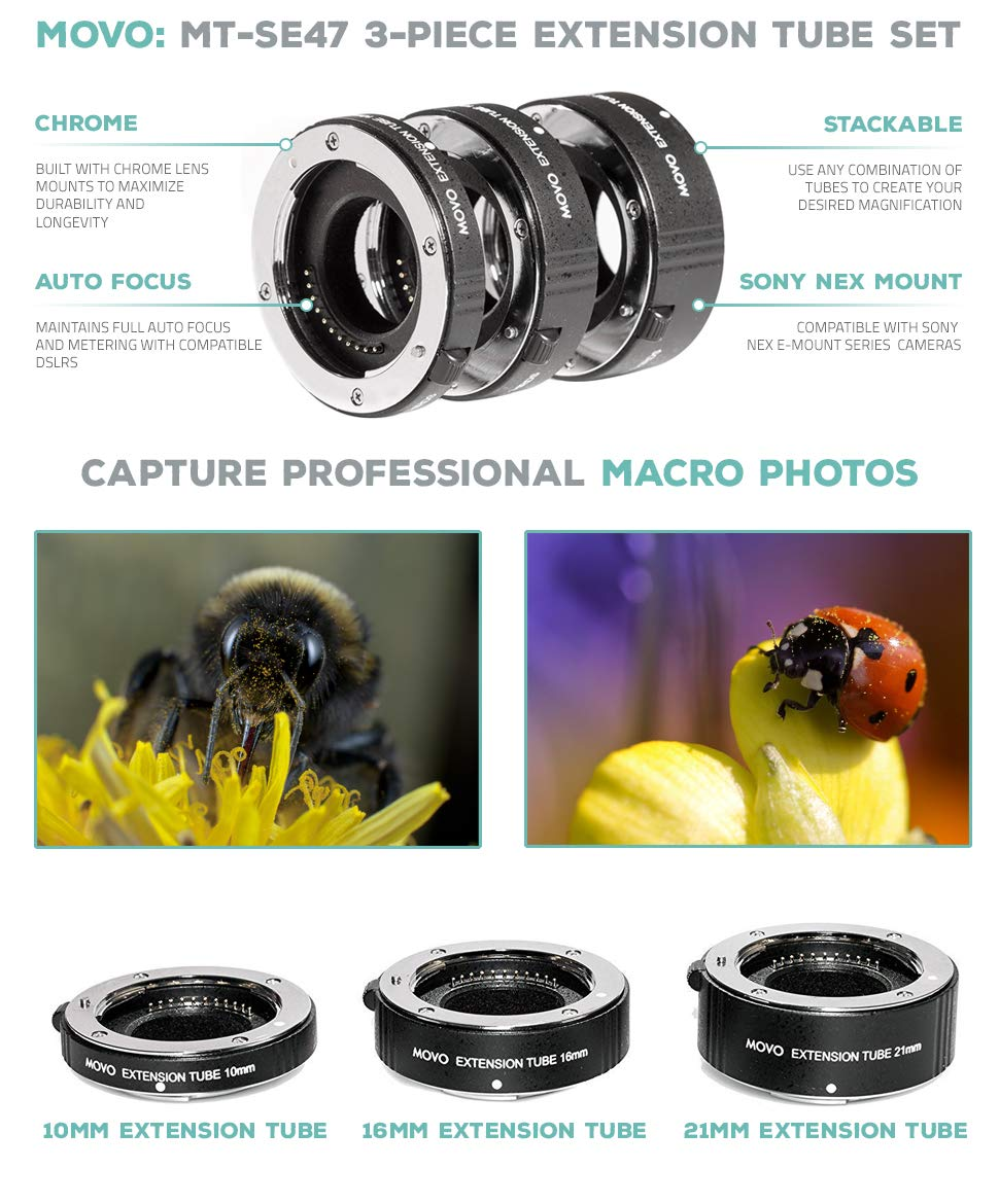 MOVO MT-SE47 Macro Extension Tube Set